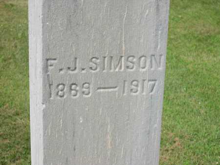 SIMSON, F.J. - Linn County, Iowa   F.J. SIMSON