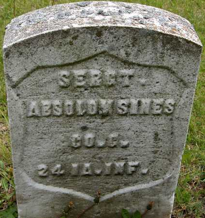 SINES, SERGT. ABSOLOM - Linn County, Iowa | SERGT. ABSOLOM SINES