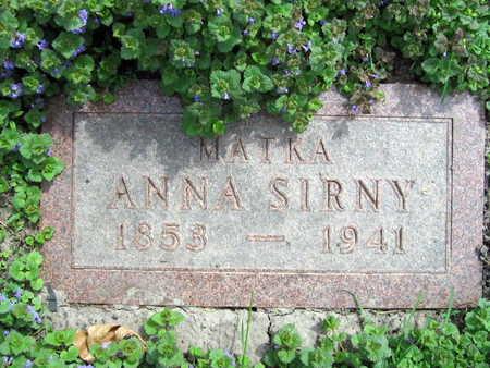 SIRNY, ANNA - Linn County, Iowa   ANNA SIRNY