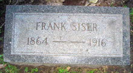 SISER, FRANK - Linn County, Iowa   FRANK SISER