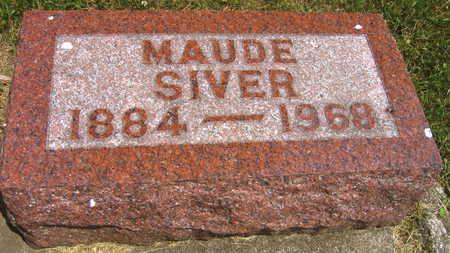 SIVER, MAUDE - Linn County, Iowa | MAUDE SIVER