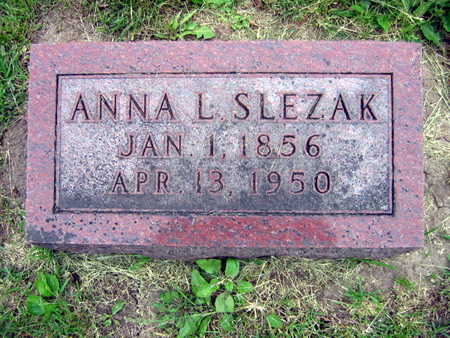 SLEZAK, ANNA L. - Linn County, Iowa   ANNA L. SLEZAK