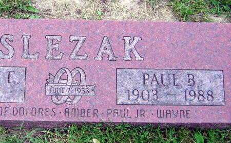 SLEZAK, PAUL B. - Linn County, Iowa | PAUL B. SLEZAK