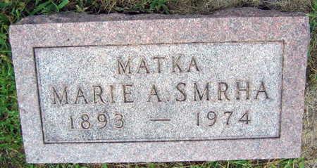SMRHA, MARIE A. - Linn County, Iowa   MARIE A. SMRHA