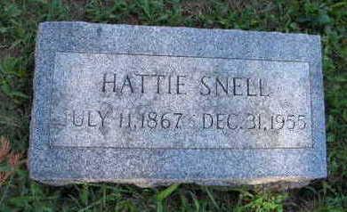 SNELL, HATTIE - Linn County, Iowa | HATTIE SNELL