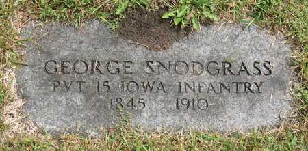SNODGRASS, GEORGE - Linn County, Iowa   GEORGE SNODGRASS