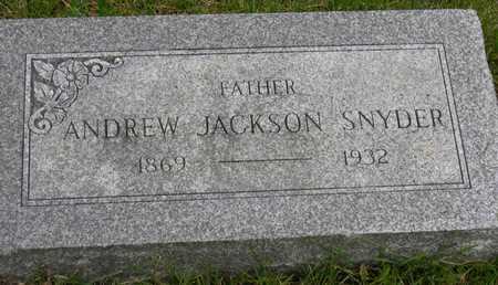 SNYDER, ANDREW JACKSON - Linn County, Iowa | ANDREW JACKSON SNYDER