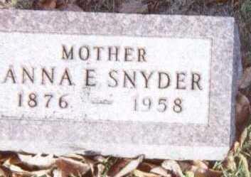 SNYDER, ANNA E. - Linn County, Iowa   ANNA E. SNYDER