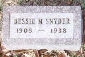 SNYDER, BESSIE M. - Linn County, Iowa | BESSIE M. SNYDER