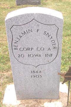 SNYDER, BENJAMIN F. - Linn County, Iowa   BENJAMIN F. SNYDER