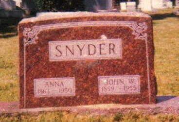 SNYDER, ANNA - Linn County, Iowa | ANNA SNYDER
