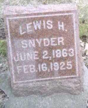 SNYDER, LEWIS H. - Linn County, Iowa | LEWIS H. SNYDER