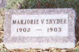SNYDER, MARJORIE V. - Linn County, Iowa | MARJORIE V. SNYDER