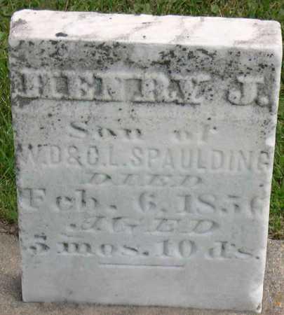 SPAULDING, HENRY J. - Linn County, Iowa   HENRY J. SPAULDING