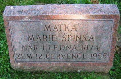 SPINKA, MARIE - Linn County, Iowa | MARIE SPINKA