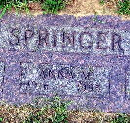 SPRINGER, ANNA M - Linn County, Iowa | ANNA M SPRINGER