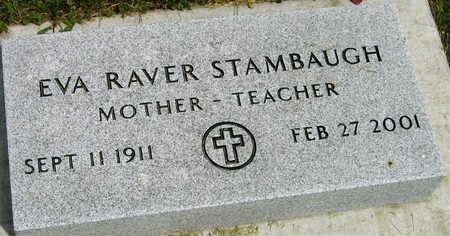 RAVER STAMBAUGH, EVA - Linn County, Iowa | EVA RAVER STAMBAUGH