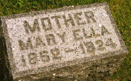 STAMBAUGH, MARY ELLA - Linn County, Iowa   MARY ELLA STAMBAUGH