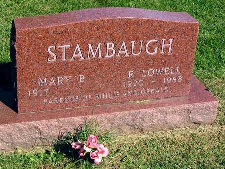 STAMBAUGH, R. LOWELL - Linn County, Iowa   R. LOWELL STAMBAUGH