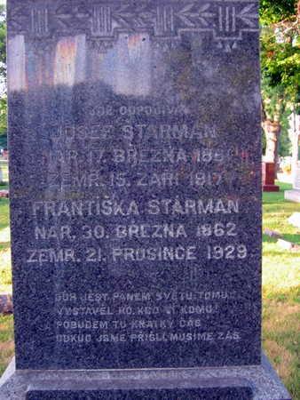 STARMAN, FRANTISKA - Linn County, Iowa   FRANTISKA STARMAN
