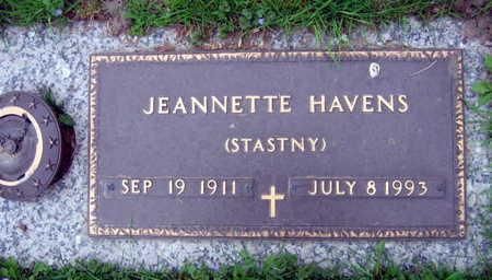 STASTNY HAVENS, JEANNETTE - Linn County, Iowa | JEANNETTE STASTNY HAVENS