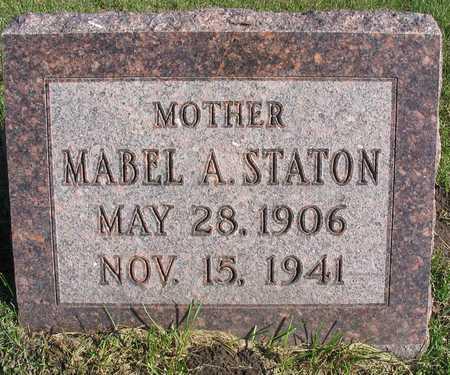 STATON, MABEL A. - Linn County, Iowa   MABEL A. STATON