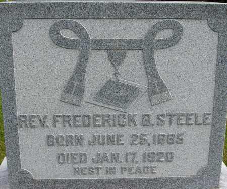 STEELE, REV. FREDERICK B. - Linn County, Iowa   REV. FREDERICK B. STEELE