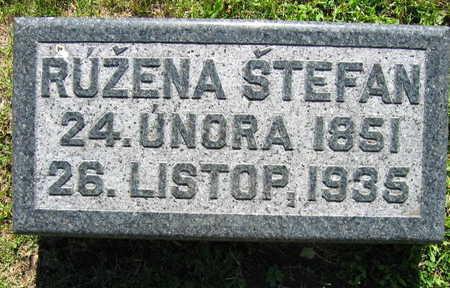 STEFAN, RUZENA - Linn County, Iowa | RUZENA STEFAN