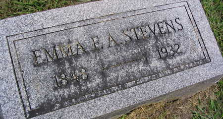 STEVENS, EMMA F. A. - Linn County, Iowa   EMMA F. A. STEVENS