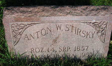 STIRSKY, ANTON W. - Linn County, Iowa   ANTON W. STIRSKY
