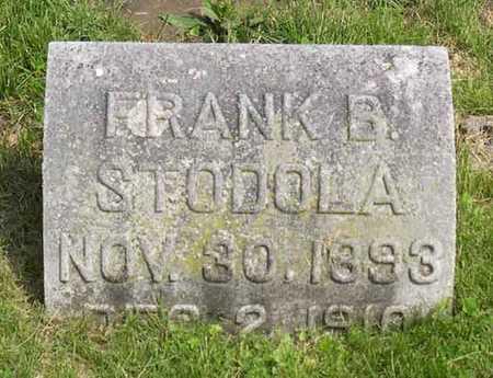 STODOLA, FRANK B. - Linn County, Iowa | FRANK B. STODOLA
