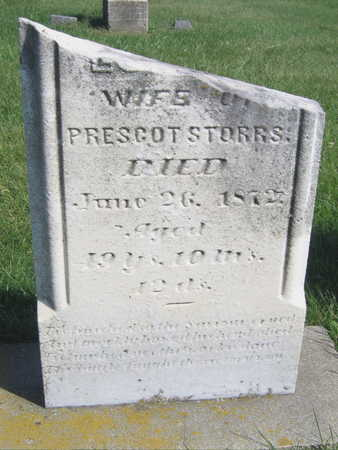 STORRS, WIFE OF PRESCOT - Linn County, Iowa | WIFE OF PRESCOT STORRS