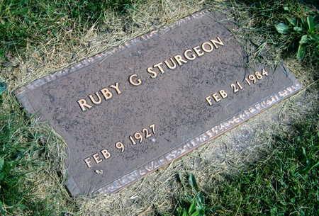 STURGEON, RUBY G. - Linn County, Iowa | RUBY G. STURGEON
