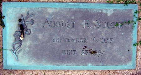 SULICIK, AUGUST R. - Linn County, Iowa | AUGUST R. SULICIK