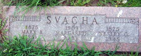 SVACHA, MARGARET - Linn County, Iowa   MARGARET SVACHA