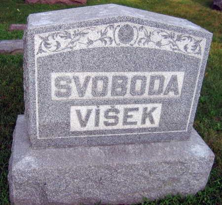 SVOBODA VISEK, FAMILY STONE - Linn County, Iowa   FAMILY STONE SVOBODA VISEK