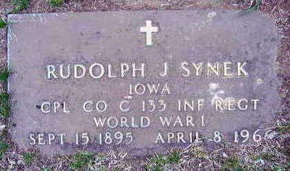 SYNEK, RUDOLPH J. - Linn County, Iowa | RUDOLPH J. SYNEK