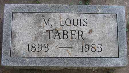 TABER, M. LOUIS - Linn County, Iowa | M. LOUIS TABER