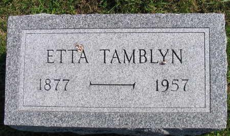 TAMBLYN, ETTA - Linn County, Iowa | ETTA TAMBLYN