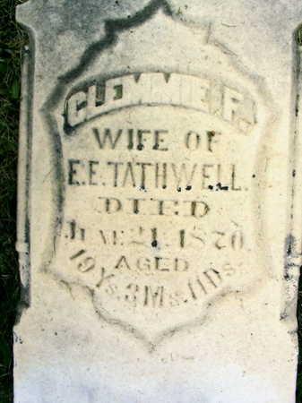 TATHWELL, CLEMMIE F. - Linn County, Iowa | CLEMMIE F. TATHWELL