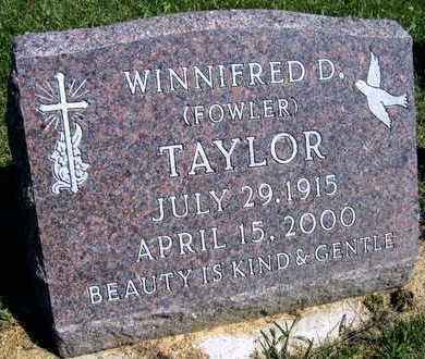 FOWLER TAYLOR, WINNIFRED D. - Linn County, Iowa | WINNIFRED D. FOWLER TAYLOR
