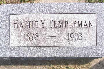TEMPLEMAN, HATTIE M. - Linn County, Iowa | HATTIE M. TEMPLEMAN