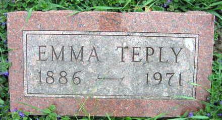 TEPLY, EMMA - Linn County, Iowa   EMMA TEPLY