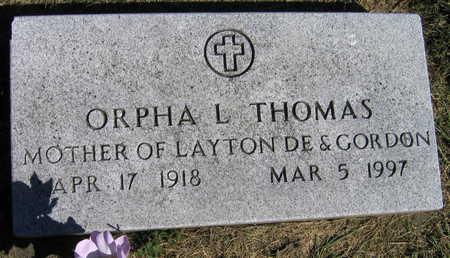 THOMAS, ORPHA L. - Linn County, Iowa   ORPHA L. THOMAS