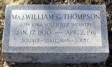THOMPSON, WILLIAM G., MAJ. - Linn County, Iowa   WILLIAM G., MAJ. THOMPSON