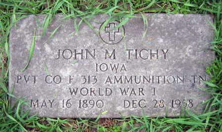 TICHY, JOHN M. - Linn County, Iowa | JOHN M. TICHY