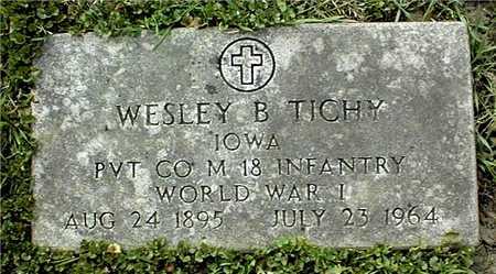 TICHY, WESLEY B. - Linn County, Iowa | WESLEY B. TICHY