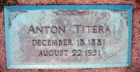 TITERA, ANTON - Linn County, Iowa   ANTON TITERA