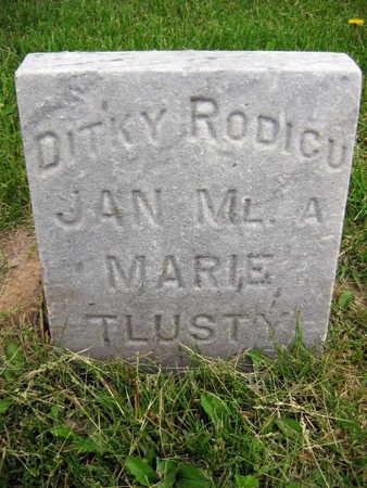 TLUSTY, MARIE - Linn County, Iowa | MARIE TLUSTY