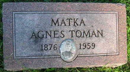 TOMAN, AGNES - Linn County, Iowa   AGNES TOMAN